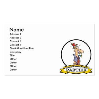 WORLDS GREATEST PARTIER CARTOON BUSINESS CARD TEMPLATES