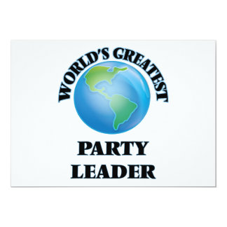 World's Greatest Party Leader Personalized Invite