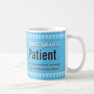 World's Greatest Patient Basic White Mug