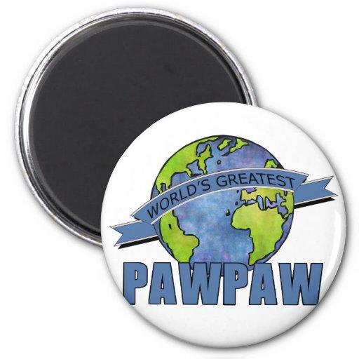 World's Greatest PawPaw 6 Cm Round Magnet