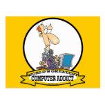WORLDS GREATEST PC COMPUTER ADDICT CARTOON