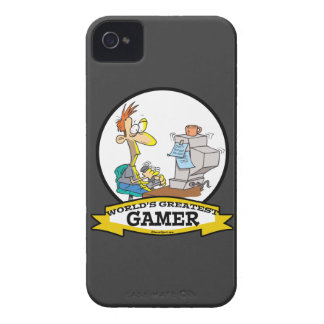 WORLDS GREATEST PC GAMER TEEN CARTOON Case-Mate iPhone 4 CASES