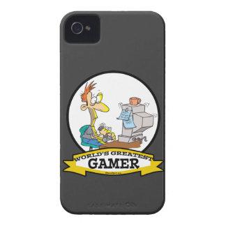 WORLDS GREATEST PC GAMER TEEN CARTOON iPhone 4 Case-Mate CASE