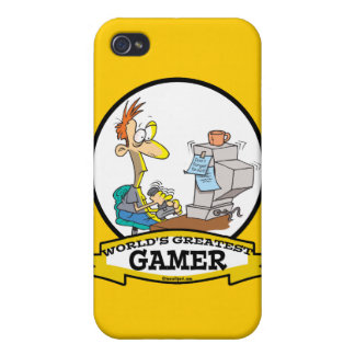 WORLDS GREATEST PC GAMER TEEN CARTOON iPhone 4/4S CASES