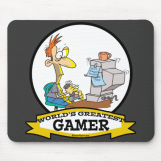 WORLDS GREATEST PC GAMER TEEN CARTOON MOUSE PAD