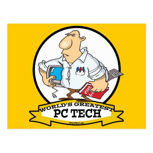 WORLDS GREATEST PC TECH MEN CARTOON POST CARDS