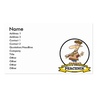 WORLDS GREATEST PEACENIK CARTOON BUSINESS CARD TEMPLATES