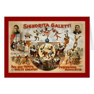 World's Greatest Performing Monkeys 1892 Card