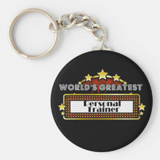 World's Greatest Personal Trainer Basic Round Button Key Ring