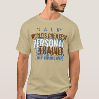 Worlds Greatest Personal Trainer Funny A7 TAN BLUE T-Shirt