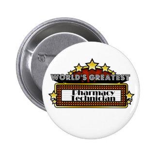 World's Greatest Pharmacy Technician 6 Cm Round Badge