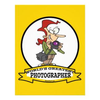 WORLDS GREATEST PHOTOGRAPHER CARTOON 21.5 CM X 28 CM FLYER