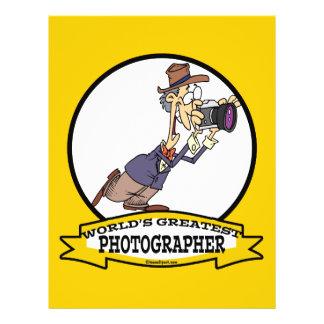WORLDS GREATEST PHOTOGRAPHER V MEN CARTOON 21.5 CM X 28 CM FLYER