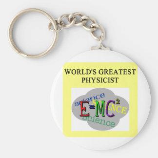 world's greatest physicist basic round button key ring
