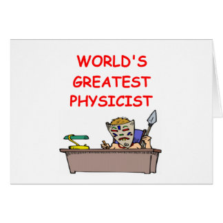 world's greatest physicist greeting cards