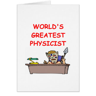 world's greatest physicist greeting card