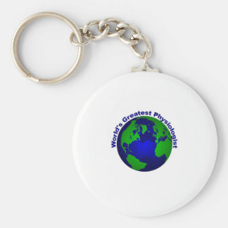 World's Greatest Physiologist Basic Round Button Key Ring
