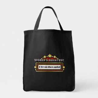 World's Greatest Physiotherapist Grocery Tote Bag