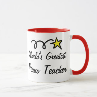 World's Greatest Piano Teacher - Coffee Mug gift