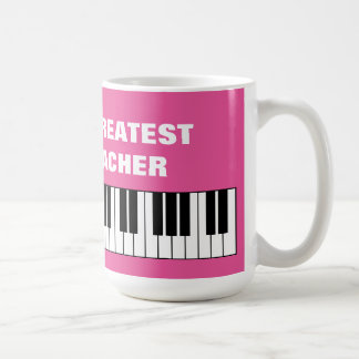 World's Greatest Piano Teacher oversized jumbo mug