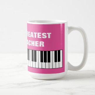 World's Greatest Piano Teacher oversized jumbo mug