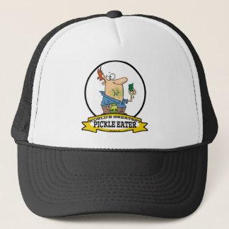 WORLDS GREATEST PICKLE EATER MEN CARTOON TRUCKER HAT