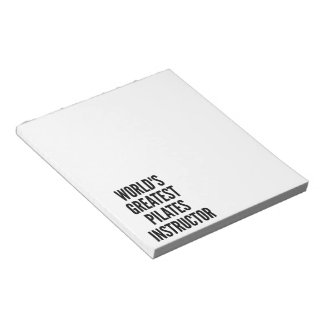 Worlds Greatest Pilates Instructor Notepad