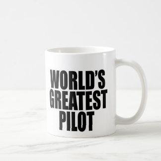 World's Greatest Pilot Basic White Mug