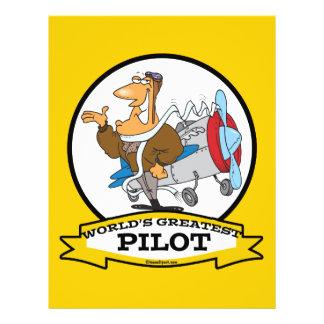 WORLDS GREATEST PILOT II MEN CARTOON 21.5 CM X 28 CM FLYER