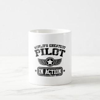 World's Greatest Pilot In Action Basic White Mug