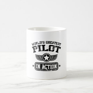 World's Greatest Pilot In Action Classic White Coffee Mug