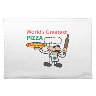 WORLDS GREATEST PIZZA CLOTH PLACE MAT