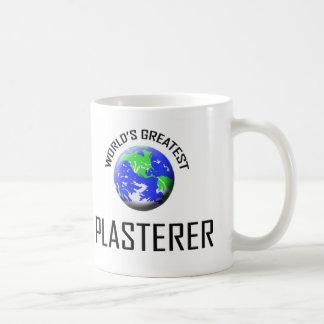 World's Greatest Plasterer Basic White Mug
