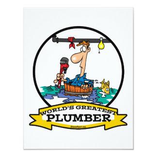 WORLDS GREATEST PLUMBER IV MEN CARTOON CARD