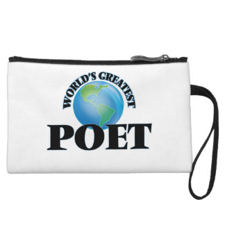 World's Greatest Poet Wristlet Clutches