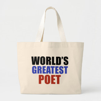 World's greatest poet tote bag