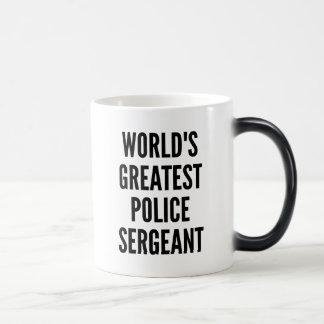 Worlds Greatest Police Sergeant Morphing Mug