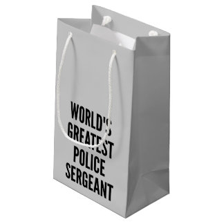 Worlds Greatest Police Sergeant Small Gift Bag