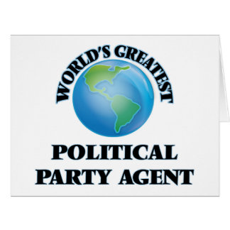 World's Greatest Political Party Agent Cards