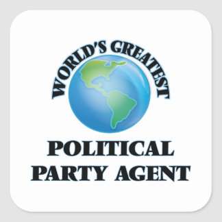 World's Greatest Political Party Agent Sticker