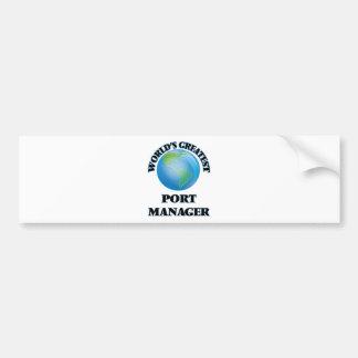 World's Greatest Port Manager Bumper Sticker