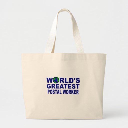 World's Greatest Postal Worker Jumbo Tote Bag