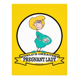 WORLDS GREATEST PREGNANT LADY CARTOON 21.5 CM X 28 CM FLYER