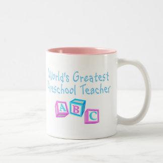 Worlds Greatest Preschool Teacher Coffee Mugs