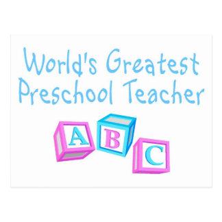 Worlds Greatest Preschool Teacher Postcard