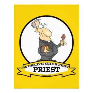WORLDS GREATEST PRIEST MEN CARTOON 21.5 CM X 28 CM FLYER