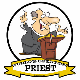 WORLDS GREATEST PRIEST MEN CARTOON CUT OUT