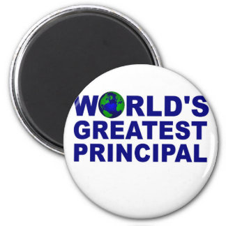 World's Greatest Principal 6 Cm Round Magnet