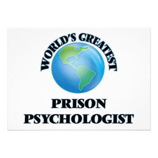 World's Greatest Prison Psychologist Announcement