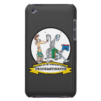 WORLDS GREATEST PROCRASTINATOR MEN CARTOON BARELY THERE iPod COVERS